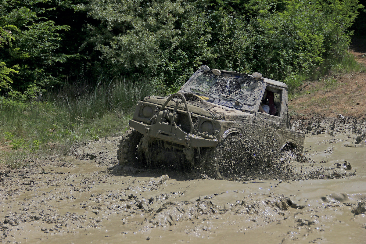 jeep on a dirt track
