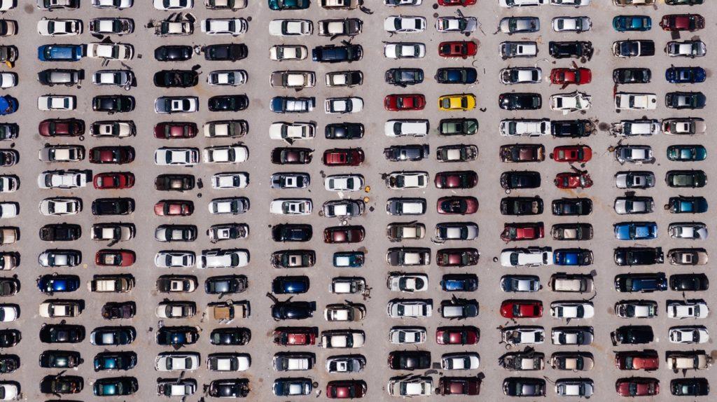 car park full of vehicle